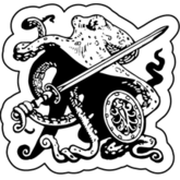 Octopus Pin – Two-handed Sword and Shield