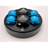Metal Illuminati D6 Dice Set (Black and Blue)