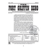 Fort Griffin Echo - Volume 1, Number 1