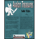 Avalon Treasure, Vol 1, Issue #3, Noble Title