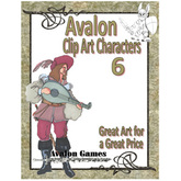 Avalon Clip Art Characters, Bard 1