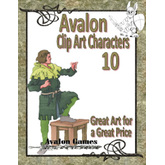Avalon Clip Art Characters, Bard 2